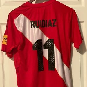 Peru soccer jersey Ruidiaz by Umbro